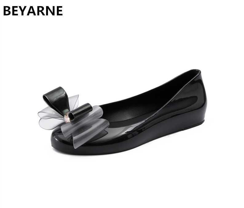 d661b29341f BEYARNE fashion woman jelly shoes lady flat rain sandals women student  girls summer travel beach sandal