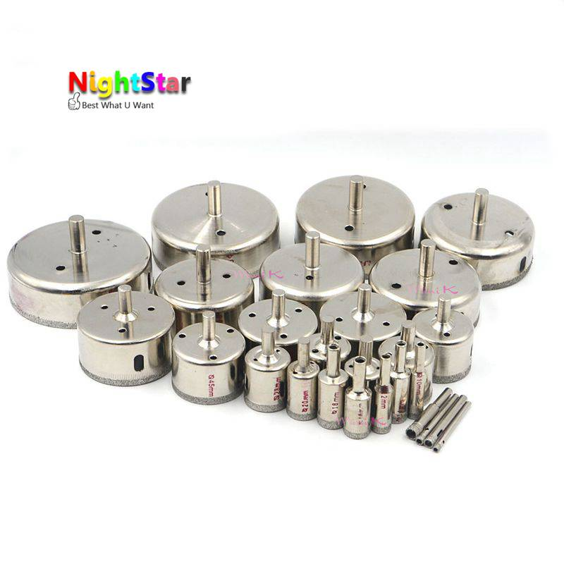 70mm Diamond Coated Drill Bit Set Kit Hole Saw Holesaw Glass Granite Tile Cutter Holer Cutting Tool For Glass Ceramic Marble