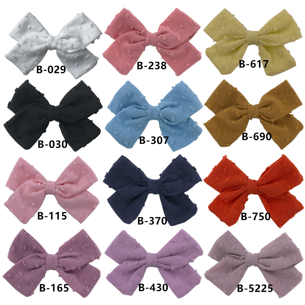 bubble bow clips 12 COLORS