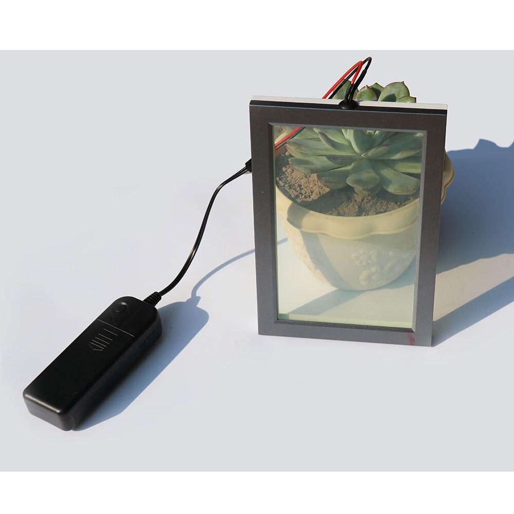 Auto-adhésif Intelligent PDLC Film comme écran de projection arrière film Film de Protection En Verre Échantillon 20 cm x 15 cm