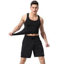 Модный спортивный костюм мужские комплекты хлопковые шорты и