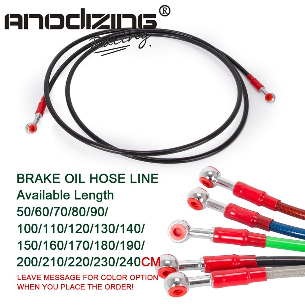 Transparent Red Hose /& Stainless Red Banjos Pro Braking PBF0064-TRD-RED Front Braided Brake Line