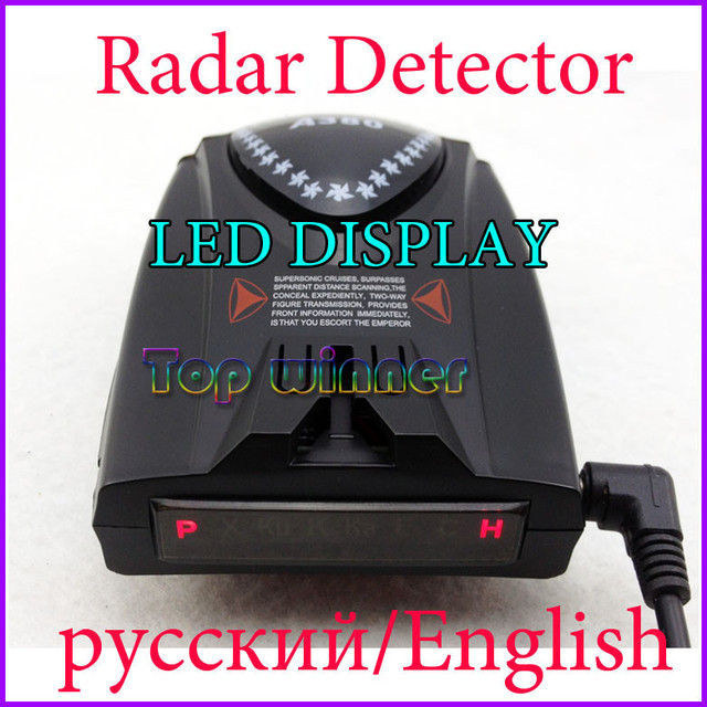New Arrival -  Car radar detector Russian/English+Beep with LED display,Drop Shipping&Free shipping