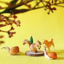 snail squirrel/doll house//miniatures/lovely cute/fairy garden gnome/moss terrarium decor/crafts/bonsai/figurine/diy supplies
