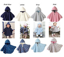 2016 Fashion  Baby Coats boys Girl's Smocks Outwear Fleece cloak Jumpers mantle Children's clothing Poncho Cape DD001