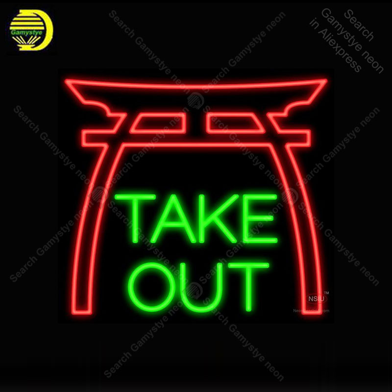 Neon Bulbs & Tubes Gentle Neon Sign For Take Out Pagoda Neon Bulb Sign Store Display Sport Iconic Handcraft Lamp Glass Advertise Letrero Enseigne Lumine Shrink-Proof
