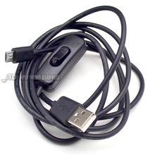 Black USB Cable With ON  OFF Switch Toggle Power Control For Raspberry Pi
