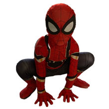 Kids Spiderman Unisex Halloween Zentai Cosplay Costume Spider Spandex Lycra Bodysuit Jumpsuits Iron Spiderman Children's Edition цена