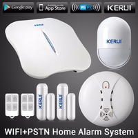 KERUI W1 WIFI Alarm System Home PSTN Burglar Security Intelligent System Android IOS APP Control Wireless