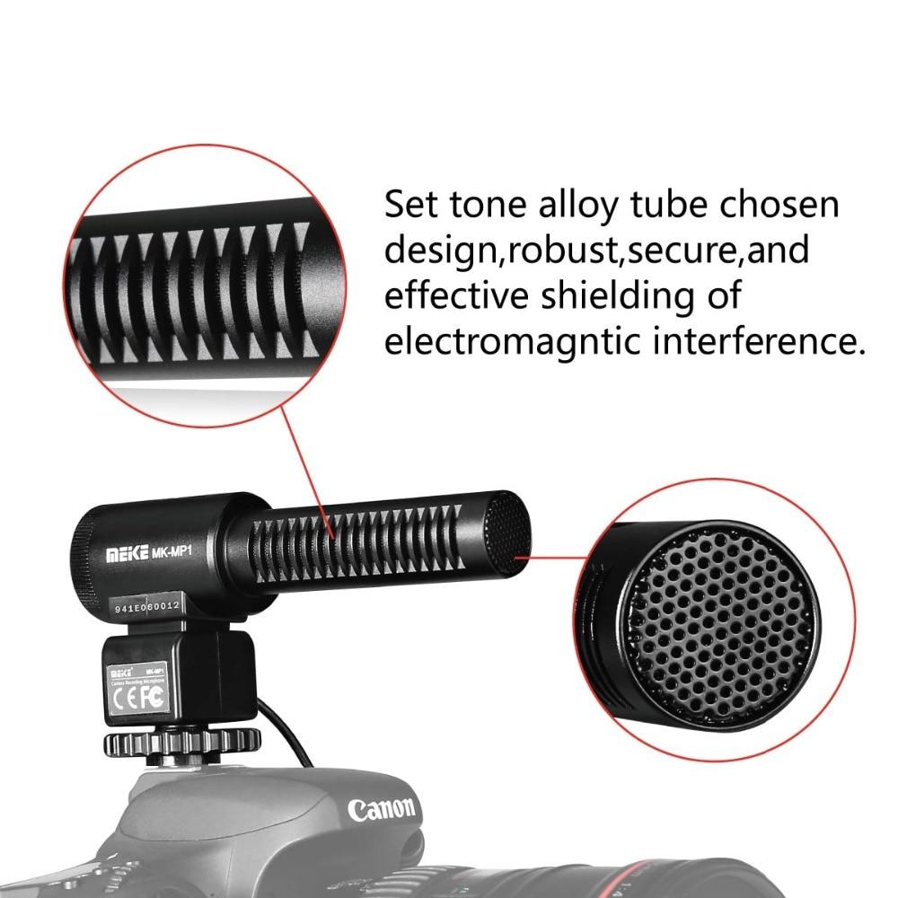 MEKE MK-MP1 20M 3.5 MM Standard Autio Tnput Super-Cardioid Pickup Noise reduction video interview Microphone