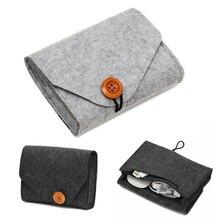 купить Travel Organizer 1 Pcs Storage Bag Mini Felt Pouch Key Coin Package Home Storage Organization Power Bank Earphone SD Card дешево