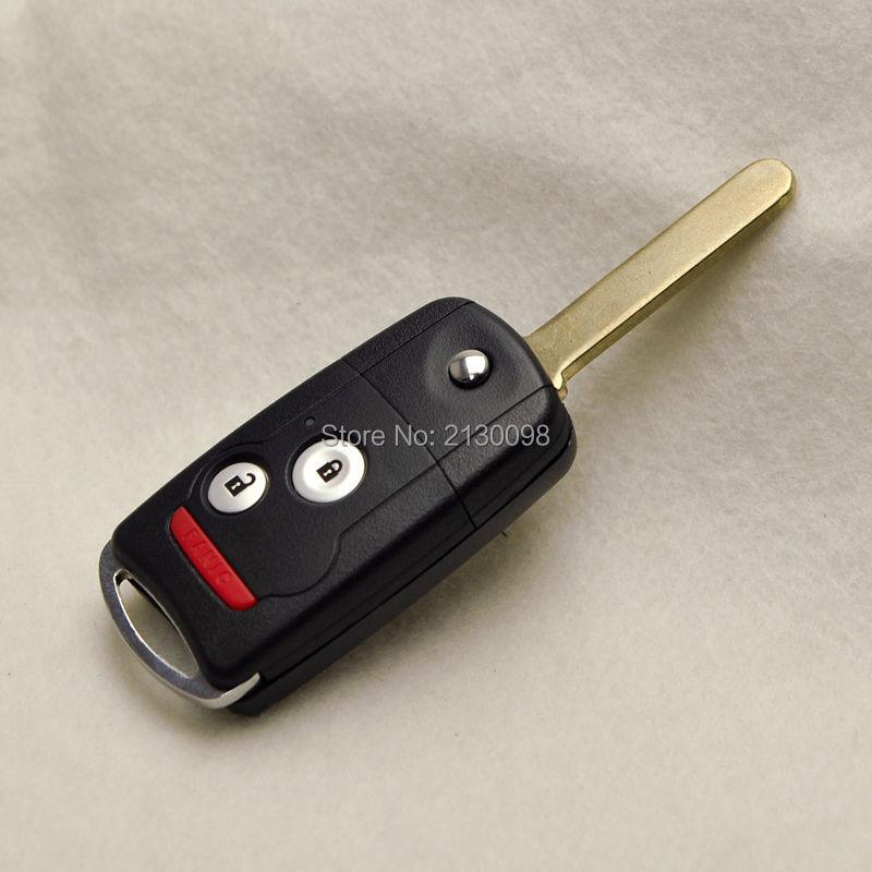 Modify 2+1 Button Flip Folding Remote Car Key Shell For Honda Accord CRV  Civic