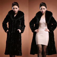 Black Fox Fur coats 2018 fashionable artificial  winter coat woman casual fox autumn warm fur Rabbit Windbreaker