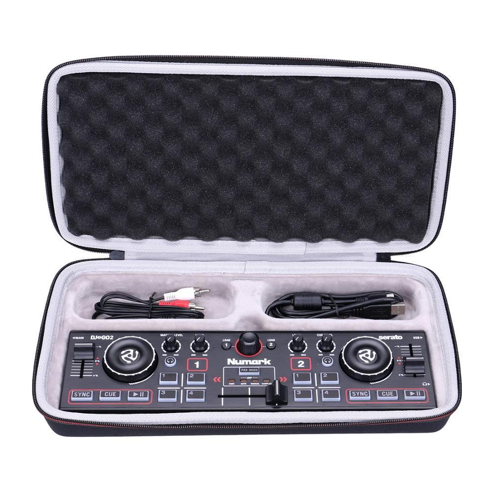 LTGEM EVA Waterproof Carrying Hard Case For Numark DJ2GO2/Pocket DJ Controller