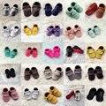 Cuero Genuino hecha a mano Del Bebé Zapatos de Bebé Mocasines