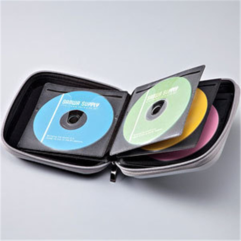 10 pcs/lot advanced Solid Color CD Box 40 Disc CD DVD Storage Case Holder CD DVD Album Bag