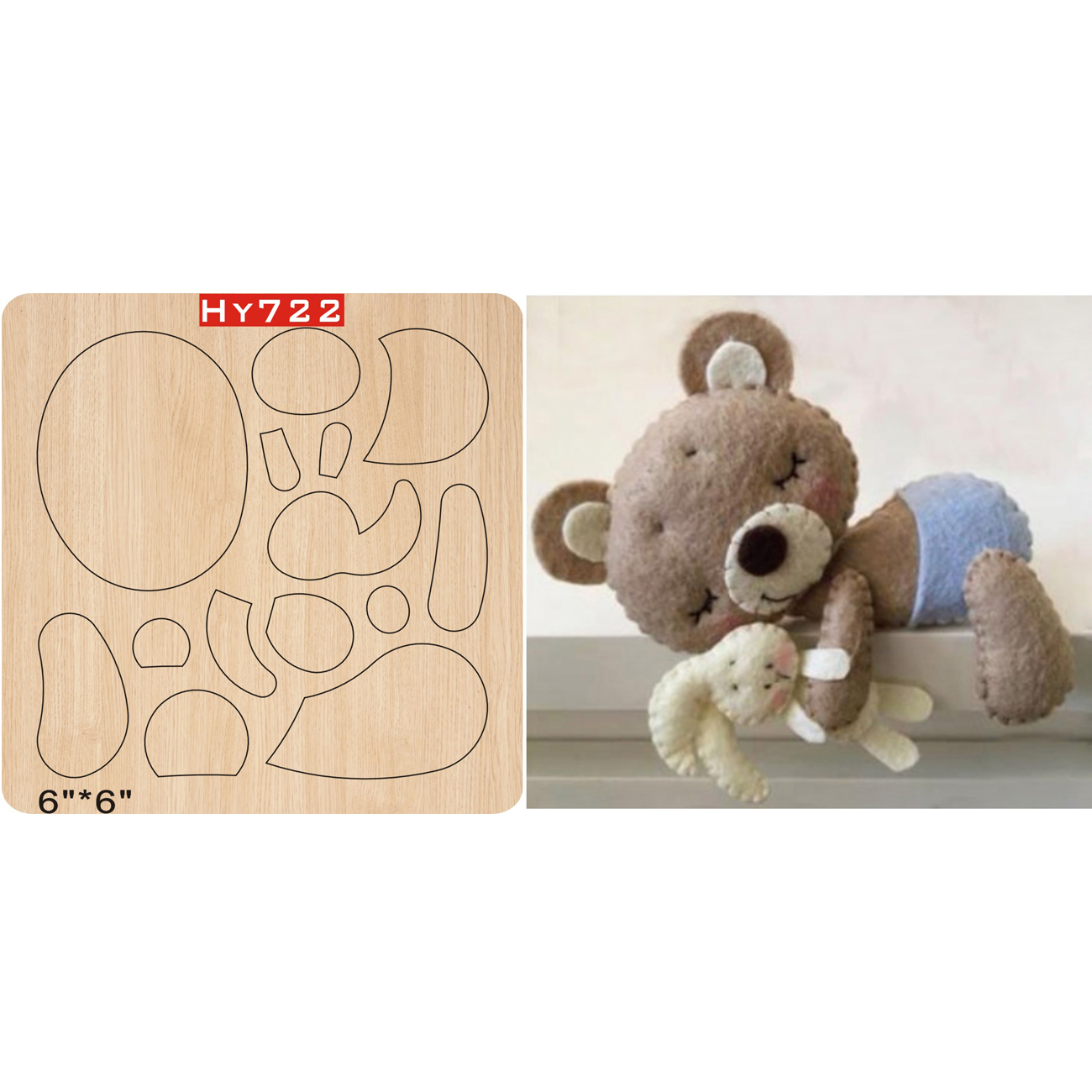 Little Bear Cutting Dies 2019 New Die Cut &wooden Dies Suitable  For Common Die Cutting  Machines On The Market