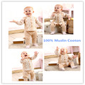 2016 New Hot Spring Baby Girl Coat Outwear 100% Muslin Cotton Super Soft Comfortable Solid Full Floral Baby Girl Jacket Clothing