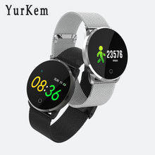 YK02 Good Watch males girls Coronary heart Charge Monitor watches Blood Strain Health Tracker Bluetooth related Android IOS smartwatch