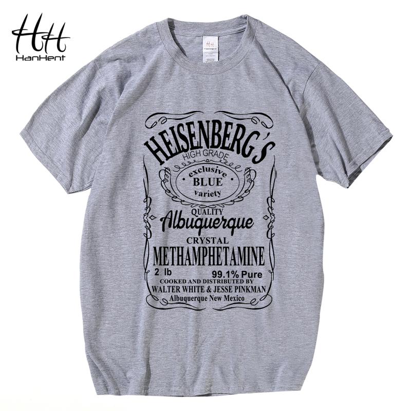 HanHent Hermanos T-Shirt Άνδρας Breaking Bad T Shirt Άνδρες Walter White Μαγιό Tops Heisenberg Άνδρες Tops Tees 2017 Καλοκαιρινό Fashion Hot