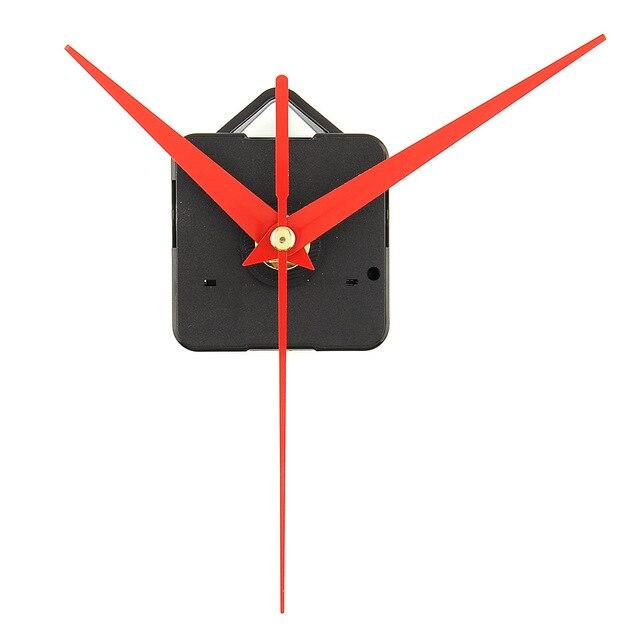New Quartz Clock Movement Mechanism Parts Replacing DIY Essential Tools Set with Red Hands Quiet Silent