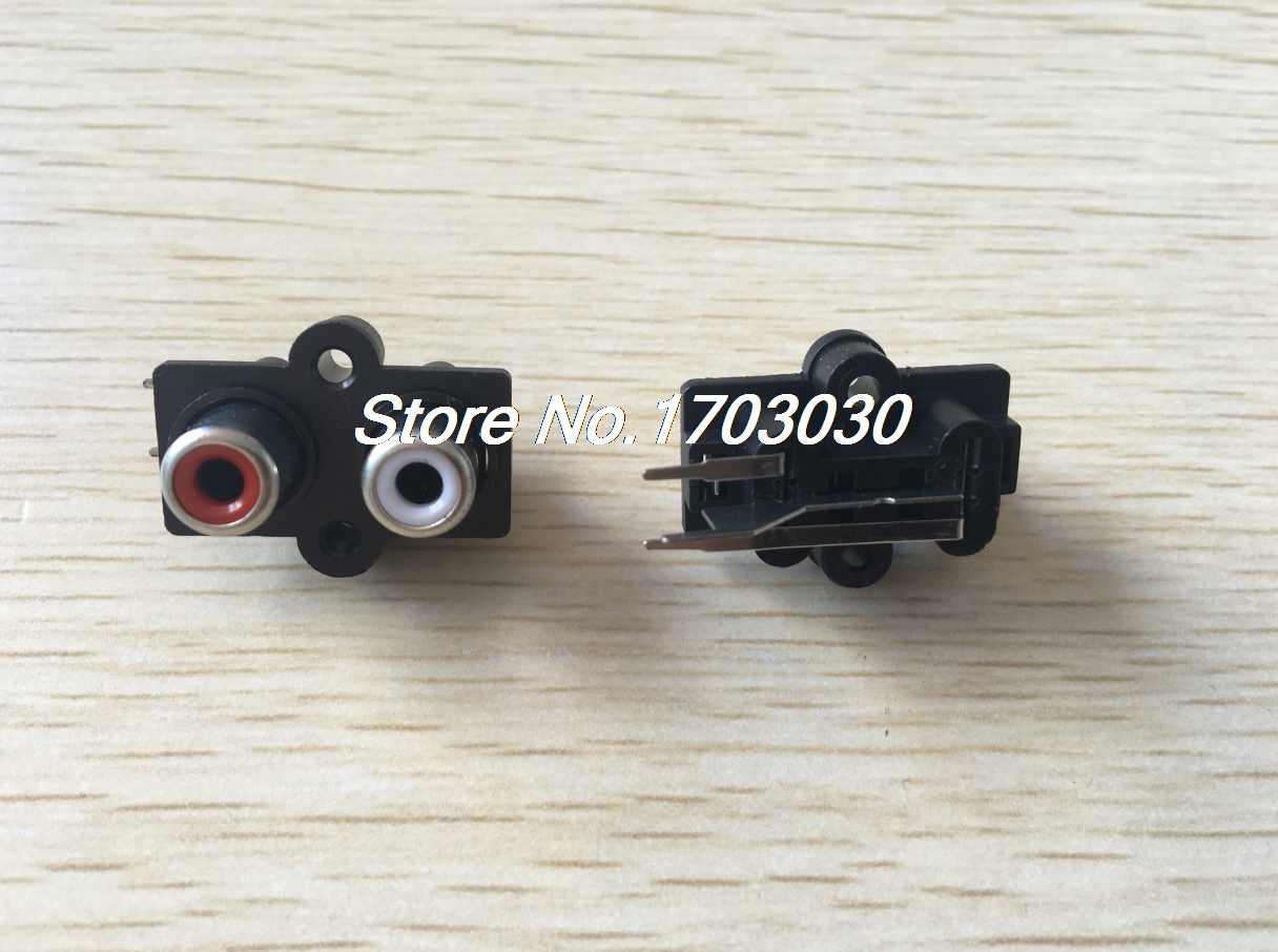 10pcs Stereo RCA Connector Female Chassis Sockets free shipping 10pcs stereo rca connector female chassis sockets