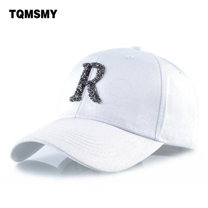 Casual Letters R Baseball Cap Women Diamond Snapback Caps Hip Hop Bone Casual Sun Visor Hats For Men Gorras Trucker Casquette