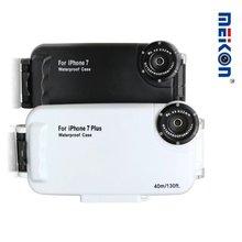 40 м/130 футов корпус для подводной камеры для фотосъемки Водонепроницаемый защитный чехол для дайвинга для Apple iPhone 7 Plus, 6 6s Plus