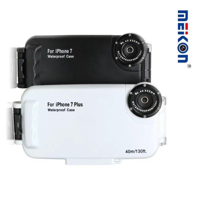 40 m/130ft logement caméra sous-marine photo prise étanche plongée de protection cas de couverture pour apple iphone 7 plus, 6 6 s Plus