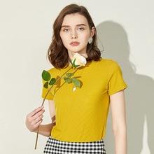 1db7a462710a24 C+IMPRESS Women T-shirts knitting stripe [Read More]