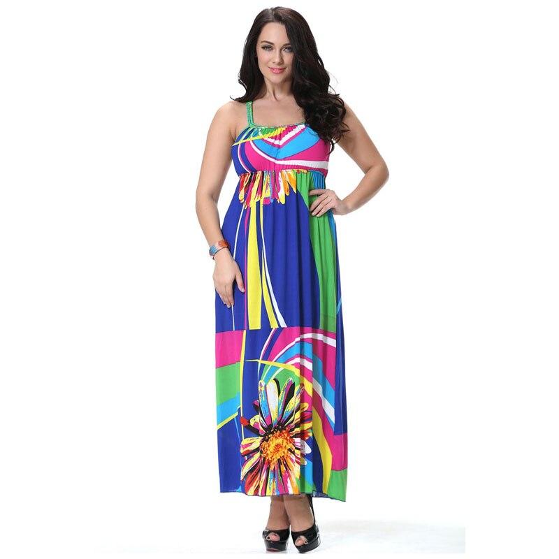 Twisted Halter Neck Plus Size Dress Summer Bohemian Hawaii Chain