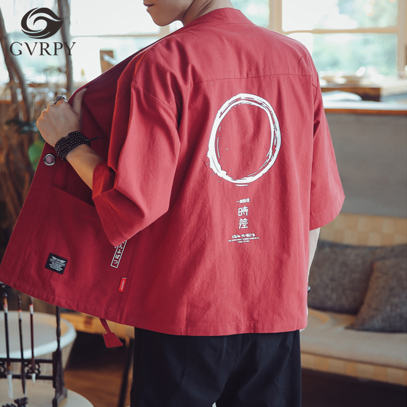 Japanese Chef Jacket Uniform Summer Men's Cropped Sleeve Coat Hotel Restaurant Sushi Japanese Restaurant Kitchen Work Shirt