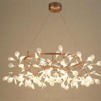 Nordic светодио дный люстры Firefly светодио дный люстры, лампы для столовой магазин G4 блеск подвесной светильник подвесной светильники