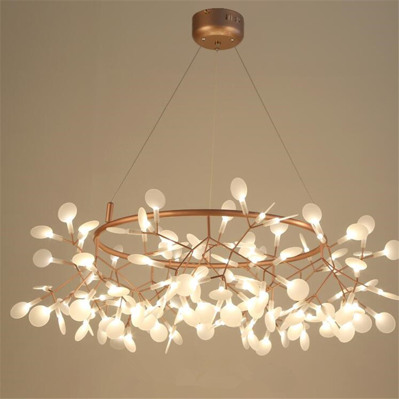 Nordique Led Lustres Luciole LED Lustre lampe D'éclairage Pour Salle À Manger Boutique G4 Lustre Pendentif lampe Luminaires Suspendus