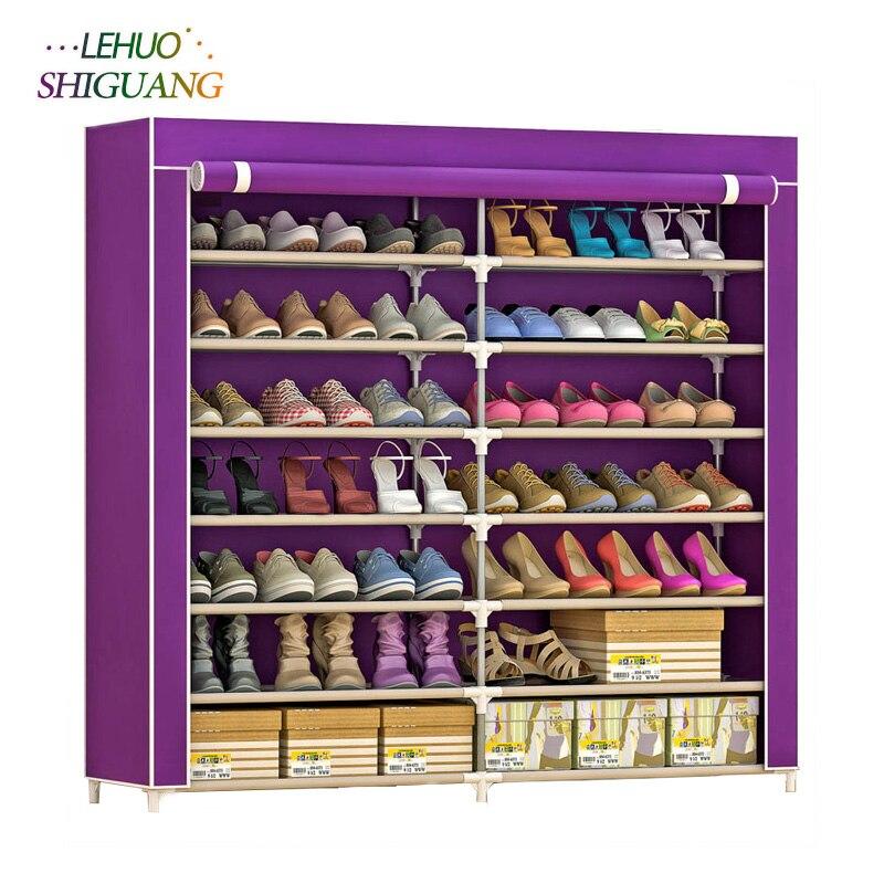 7-слой-14-сетка нетканых материалов большой шкаф для обуви Организатор съемный для хранения обуви для дома мебель шкаф для обуви