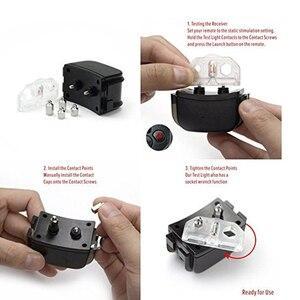 Image 5 - 300м дистанционный перезаряжаемый и водонепроницаемый электронный ошейник для дрессировки собак с ЖК дисплеем для Ошейников для собак с защитой от лай 998DR