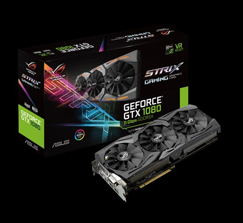 ASUS ROG STRIX-GTX1080-A8G-11GBPS graphics card raptor war owl non-O8G used 90%new image