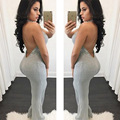 2016 HOT New Fashion Women Bandage Bodycon Sexy Backless Jumpsuits Ladies Boot Cut Party Club Rompers Winter Vestidos Bodysuits