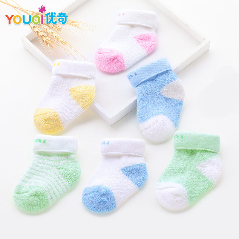 3 Pairs/Lot Cotton Baby Socks Spring Autumn Newborn 3 6 9 to 24 Months Cute Winter Baby Boy Girl Socks New Infant Toddler Floor