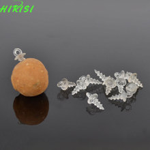 100Pcs Fishing boilie screw Carp fishing bait boilies fishing tackle accessories 11mm white color