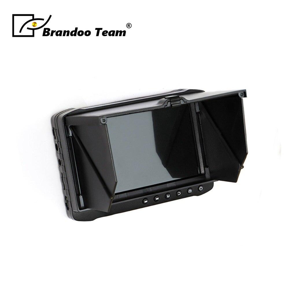 5 pouces 1080 P HD LCD Moniteur Portable CCTV DVR Avec Parasol couverture Soutien HDTVI CVI CVBS AHD Vidéo entrée