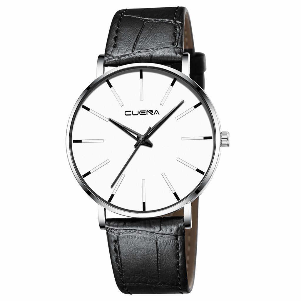יוקרה מותג שעונים אין לוגו גברים נשים ניטראלי מזדמן אופנה שעון עור ניילון קוורץ סוס שעון יד relogio 2019 A40