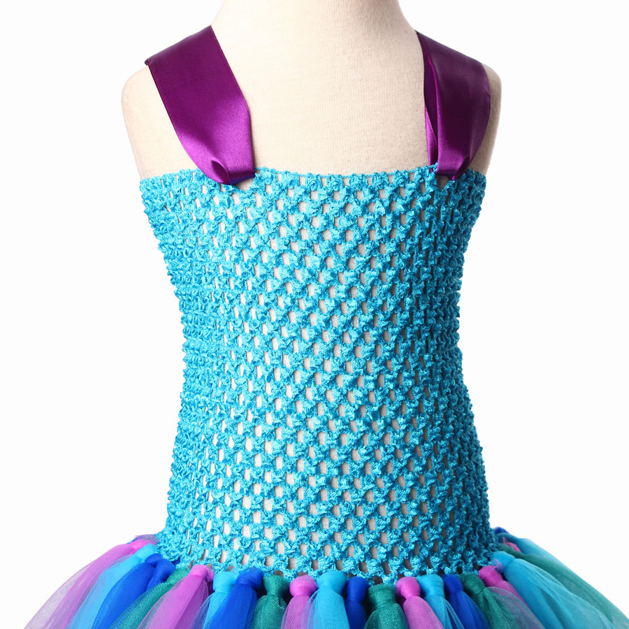 Peacock Tutu Dress For Girls Pageant Birthday Party Ball Gown Baby Girls Peacock Vestidos Children Purim Clothes Photo Props (7)