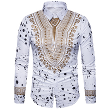 New mens casual shirt long sleeve Shirt 2018 autumn Tops 3D National style printing Floral pattern fashion Edition men shirts