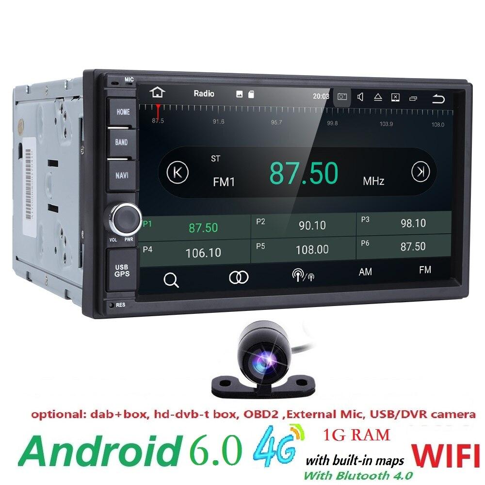 Универсальный 2din android6.0 автомобиля радио Автомобильный Мультимедийный Плеер Для NISSIAN Автомобильные ПК стол автомобиль аудио автомобиля gps-н... ...