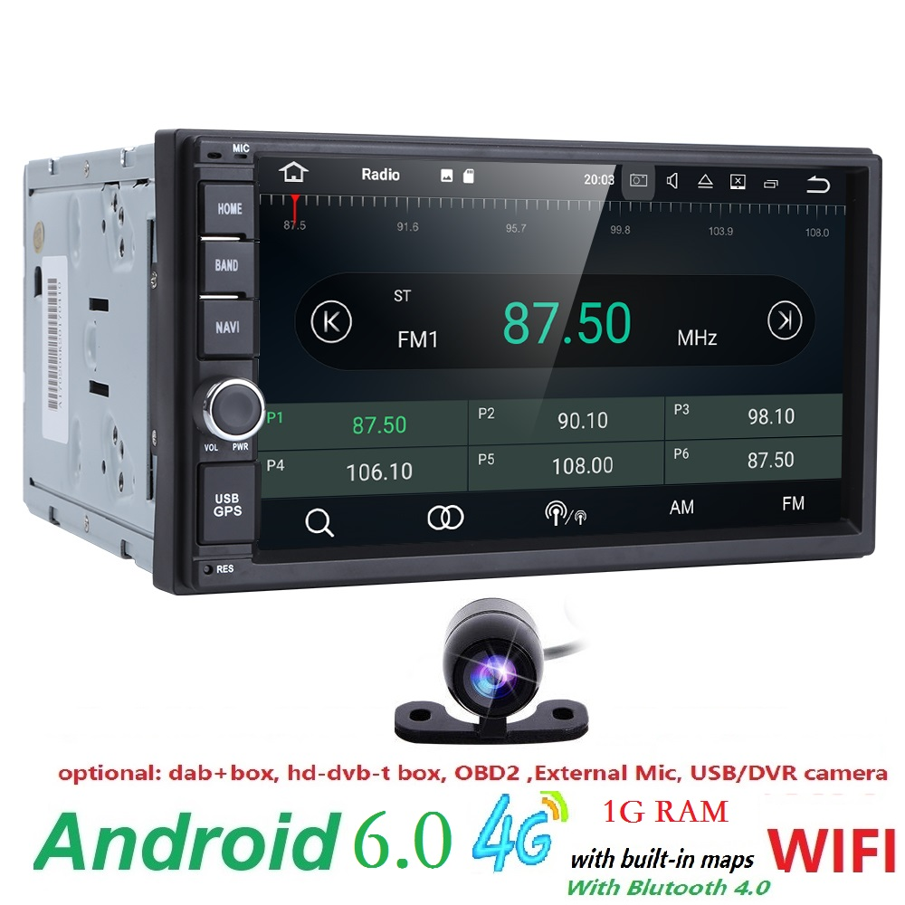 universal 2din android6.0 car radio Car Multimedia Player for nissian Car PC Table car audio vehicle gps Navigation 4GWIFI 0BD2