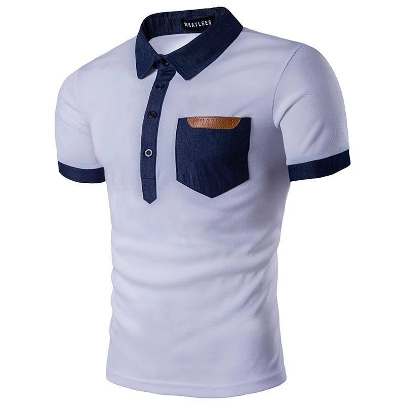 Brand   Polo   Shirt Men 2017 Summer New Short Sleeve Mens   Polo   Shirt Casual Slim Fit Hit Color Cotton Pocket Camisa   Polo   Black XXL