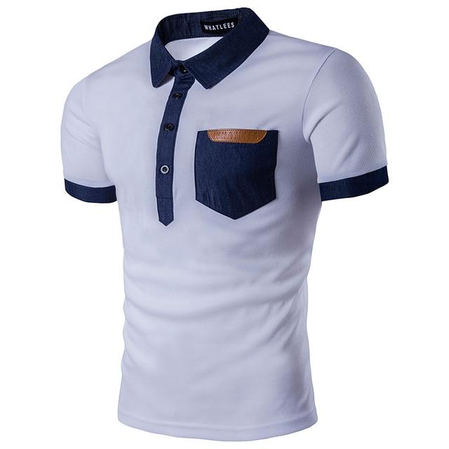 super popular 82451 32634 US $12.74 49% OFF|Marke Polo Shirt Männer 2017 Sommer Neue Kurzarm Herren  Polo hemd Casual Slim Fit Hit Farbe Baumwolle Tasche Camisa Polo Schwarz ...