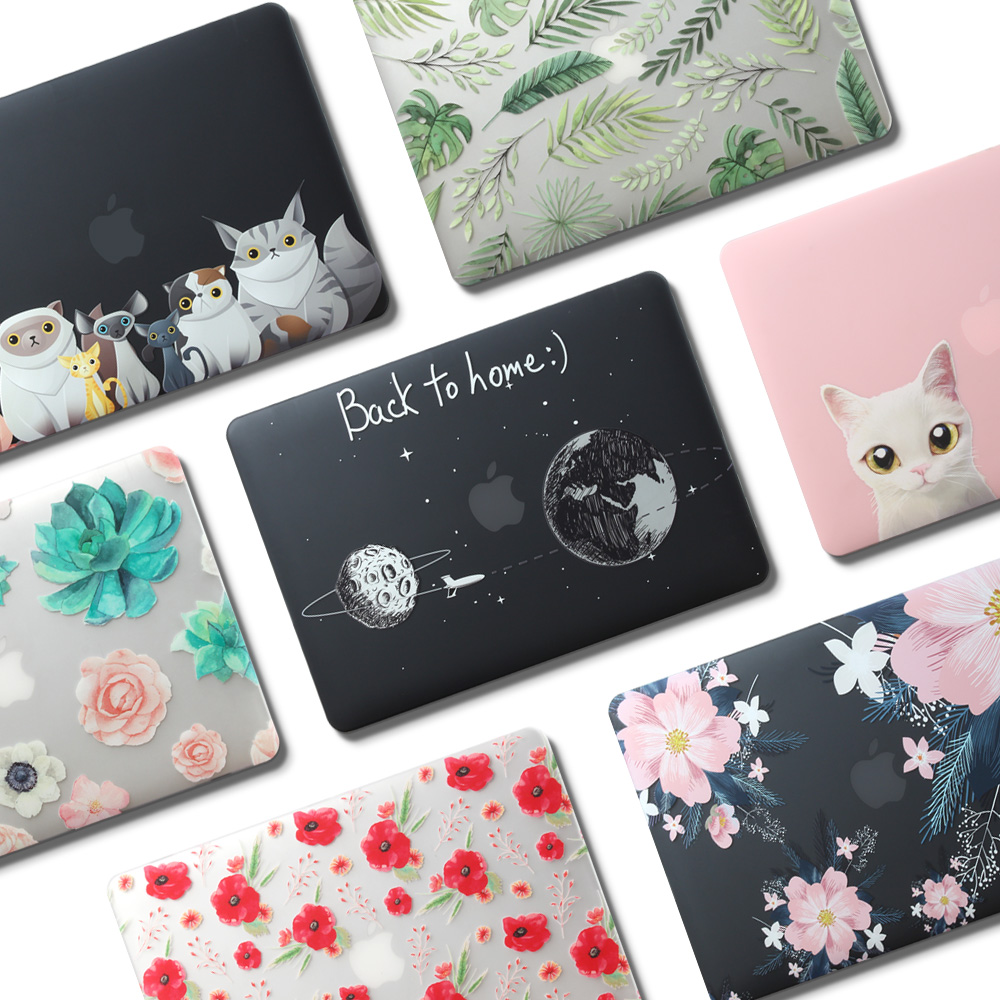 2019 New Laptop Print Case For <font><b>Apple</b></font> <font><b>MacBook</b></font> Air <font><b>Pro</b></font> Retina 11 12 13 <font><b>15</b></font> mac book 13.3 inch with Touch Bar shell+ Keyboard <font><b>Cover</b></font> image
