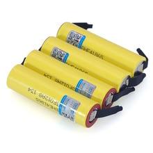 100% original novo he4 18650 recarregável li lon bateria 3.6v 2500mah bateria 20a 35a descarga + folha de níquel diy